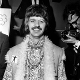 Pictured at Abbey Road Studios is drummer Ringo Starr 24th June 1967 Fotografisk tryk af Sunday People