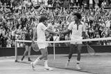Arthur Ashe Wimbledon 1975 Fotografiskt tryck av  Staff