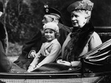 Princess Elizabeth with Grandparents King George V and Queen Mary, 1932 Photographic Print by  Staff