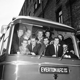 Everton Players Leave for Sunderland, 1964 Photographic Print by Charlie Owens