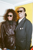 Whitney Houston and Stevie Wonder 1988 Fotografisk tryk af Brendon Monks
