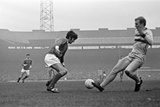 Manchester United Footballer George Best Faced by Bobby Moore of West Ham 1968 Photographic Print by Ernest Chapman