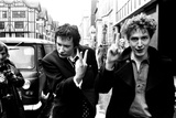 Sex Pistols singer Johnny Rotten leaving Malborough Street Court 1977 Photographic Print by Bill Rowntree