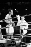Muhammad Ali with Trainer Angelo Dundee 1967 Fotografisk tryk af  Staff