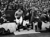 Everton Footballer Dixie Dean Fotografická reprodukce