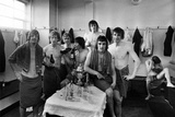 Manchester United Players in changing rooms, 1975 Photographic Print by  Staff