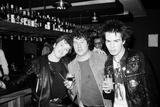 The Sex Pistols in Eindhoven, Holland. 1977 Fotografisk tryk af Peter Stone