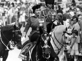 The Queen at Trooping of the Colour Ceremony 1980 Photographic Print by Daily Mirror