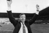 New Manchester United Manager Alex Ferguson at Old Trafford 1986 Fotodruck von  Staff