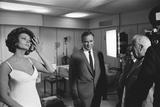 Sophia Loren, Marlon Brando and Charlie Chaplin 1966 Fotodruck von Eddie Waters
