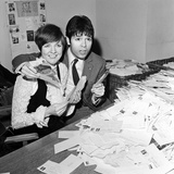 Cliff Richard and Cilla Black at Eurovision 1968 Fotografisk tryk af Waters
