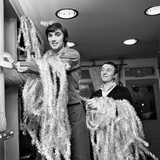 George Best Decorating His Edwardian Boutique 1967 Photographic Print by  Staff