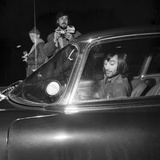 George Best at Wilmslow station in his Jaguar 1972 Photographic Print by  Staff