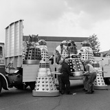 Lorry Load of Daleks are Prepared to Be Transported to the Cannes Film Festival, 1965 Photographic Print by  Water