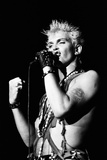Billy Idol in Concert on Long Island, New York. 11th September 1984 Fotografisk tryk af Peter Stone