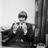 Ringo Starr after Birth of Baby Zak 1965 Fotografisk tryk af Markeson