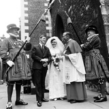 Tower of London Wedding 1968 Photographic Print by Eric Weller