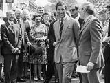 Prince Charles in Great Ayton 1978 Fotografisk tryk af  Staff