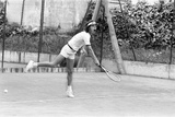 Mick Jagger Playing Tennis Photographic Print by Peter Stone