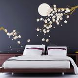 Cherry Blossom Under Moonlight - Duvar Çıkartması