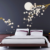 Cherry Blossom Under Moonlight Vinilo decorativo