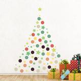 Christmas Stars & Dots - Duvar Çıkartması