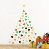 Christmas Stars & Dots Wall Decal