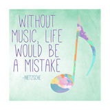 Watercolor Music II Print by  SD Graphics Studio