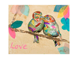 Band of Inspired Birds I (Love) Prints by Gina Ritter