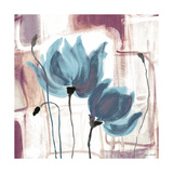 Blue Magnolias II Premium Giclee Print by Lanie Loreth