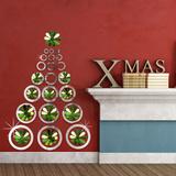 Christmas Mirror Art & 3D Green Mirror Flowers Autocollant