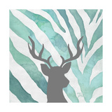Watercolor Teal Zebra I Posters by Patricia Pinto