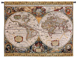 Antique Map Geographica Large Wall Tapestry Tapiz por Acorn