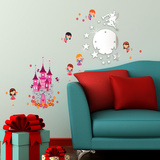 Fairy Mirror Art & Angel Castle Wall Decal
