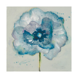 Flower in Blue II Premium Giclee Print by Patricia Quintero-Pinto