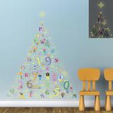 Christmas Glow in the Dark Alphabet Tree Autocollant