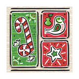 Noel and Santa IV Premium Giclee Print by  A Fresh Bunch
