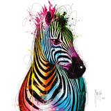 Zebra Pop Posters van Patrice Murciano