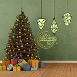 Christmas Glow in the Dark Lanterns & Love Quote Autocollant