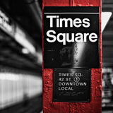 Square Times Square Photographic Print by Susan Bryant