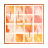 Romantic Geometrics II Art by  A Fresh Bunch