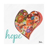 Hearts of Love and Hope I Premium Giclee Print by Patricia Quintero-Pinto
