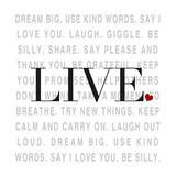 Love and Life II Premium Giclee Print by  SD Graphics Studio