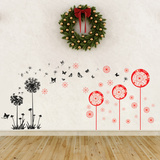 Christmas Dandelions Wall Decal