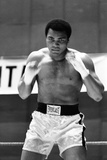 Muhammad Ali Training in Deer Lake Pennsylvania Reproduction photographique par  Staff