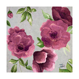 Gray and Plum Florals II Premium Giclee Print by Patricia Quintero-Pinto
