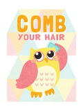 Comb your Hair Premium Giclee Print by  SD Graphics Studio