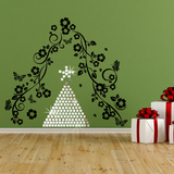 Christmas Mosaic Mirror Wall Art & Vine Muursticker