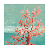 Teal Coral Reef I Giclée-Premiumdruck von Patricia Pinto