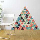 Christmas Triangles - 54 Pieces Decalcomania da muro